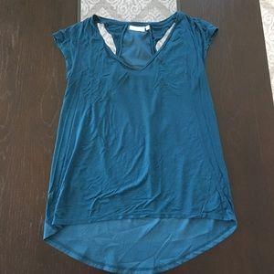 🎉(5 for $8) blueish green Deletta top